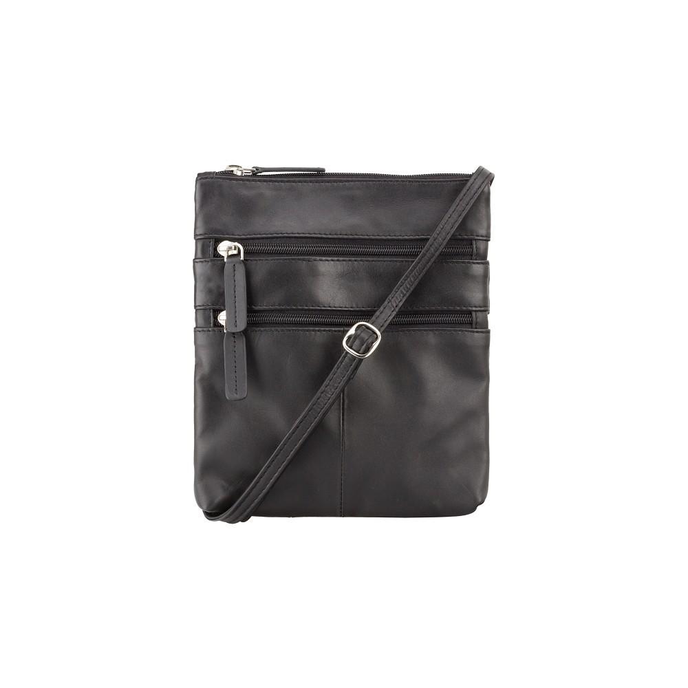 Кожаная сумка Visconti 18606 - (Black)