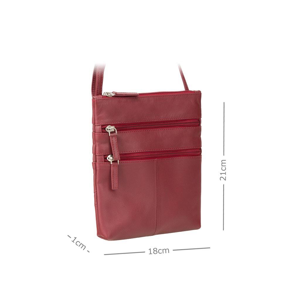 Кожаная сумка Visconti  18606 - (Red)