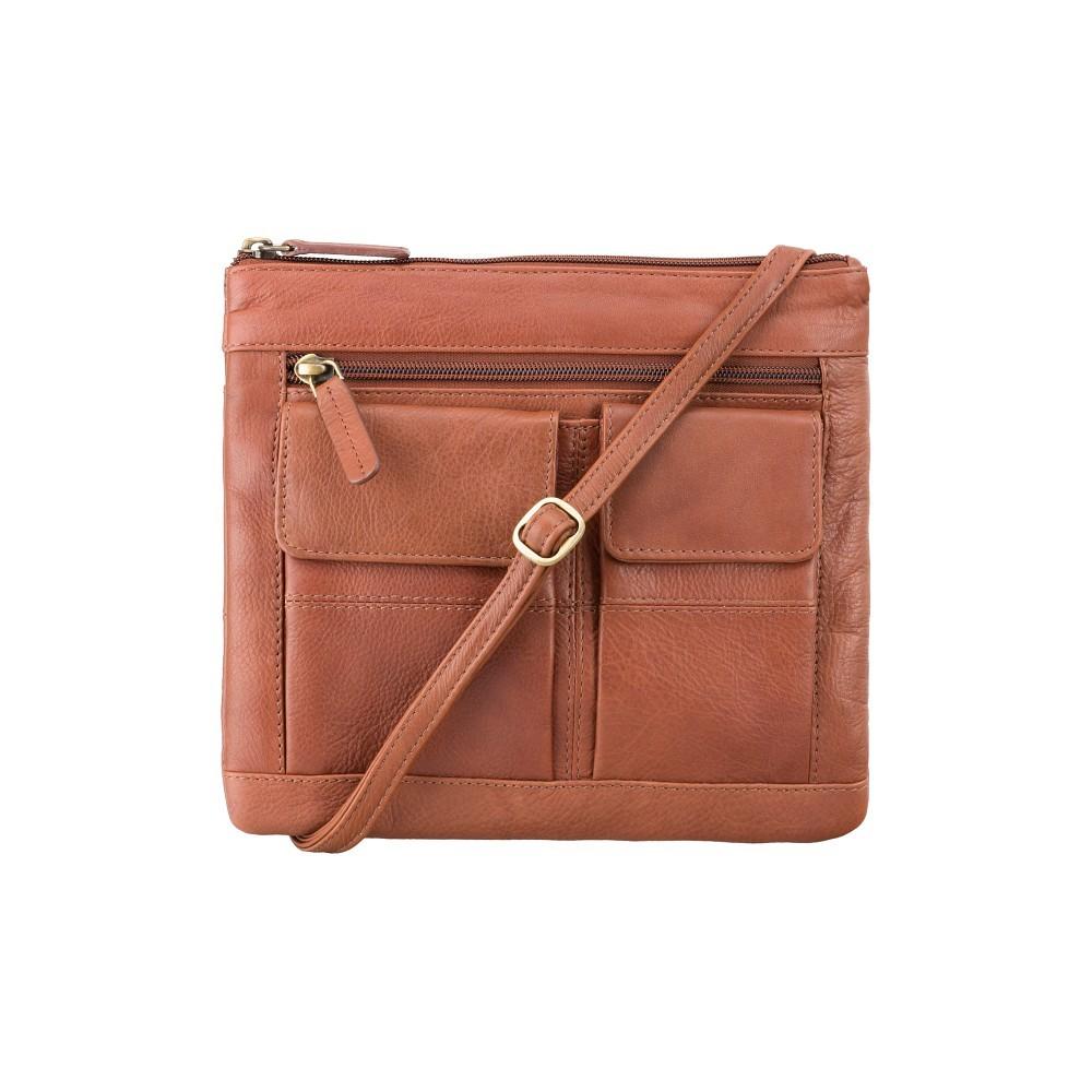 Кожаная сумка Visconti 18608 - (Brown)