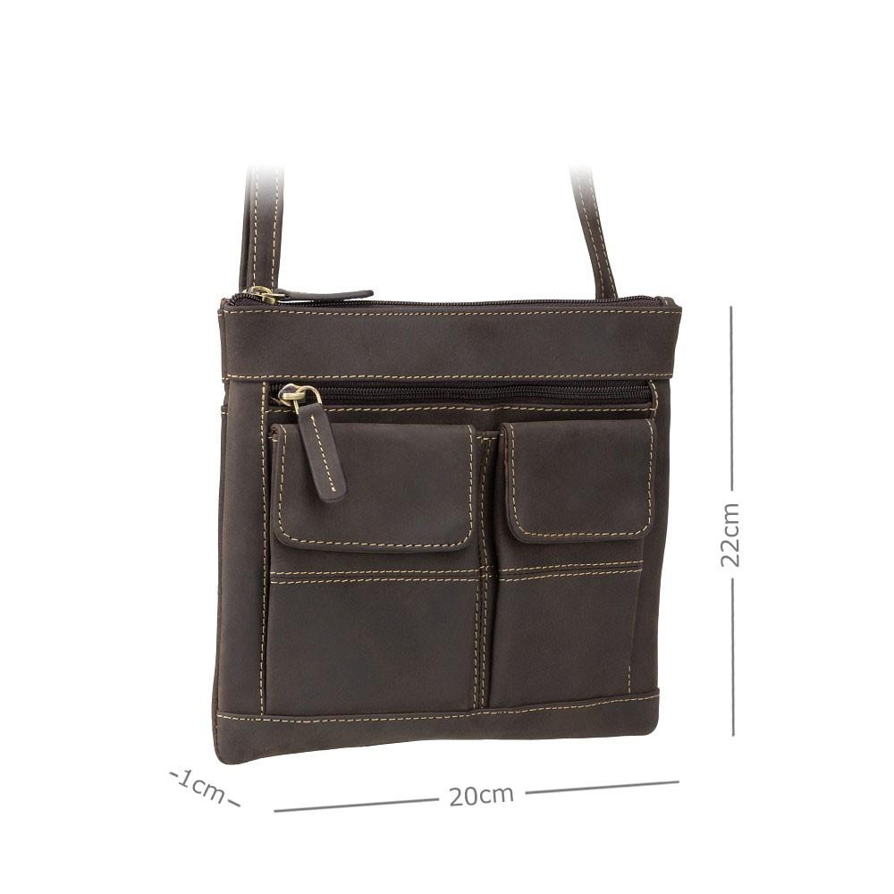 Кожаная сумка Visconti 18608 - (Oil Brown)