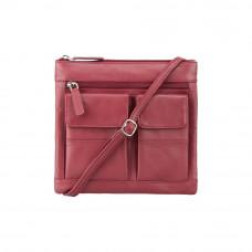 Кожаная сумка Visconti 18608 - (Red)