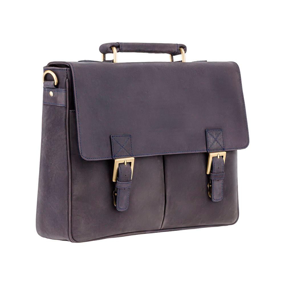 Мужской кожаный портфель Visconti 18716 – Berlin (oil blue)