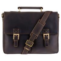 Мужской кожаный портфель Visconti 18716 – Berlin (oil brown)