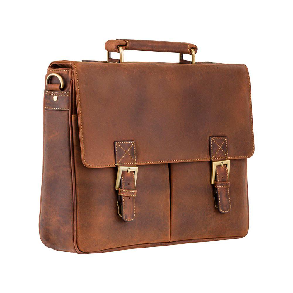 Мужской кожаный портфель Visconti 18716 – Berlin (oil tan)