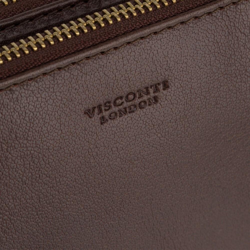 Маленькая кожаная сумка Visconti S9 Eden (Brown)