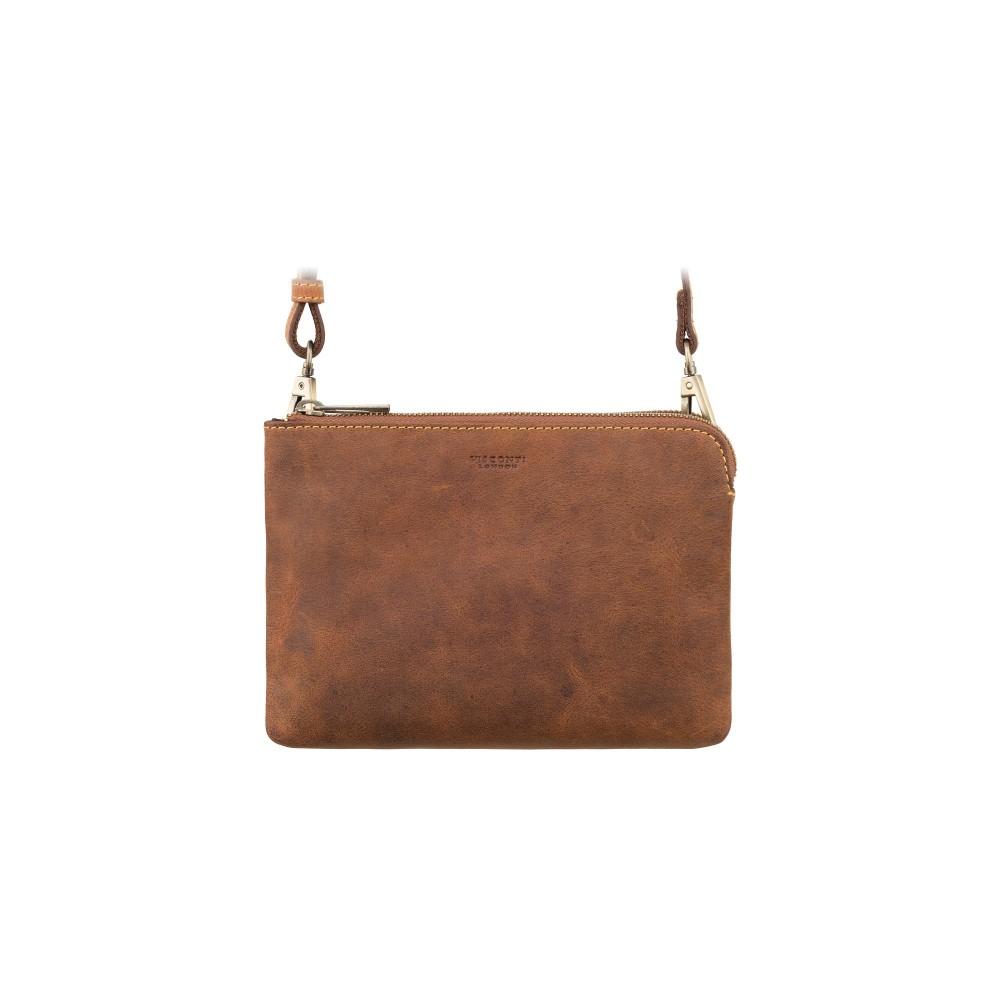 Маленькая кожаная сумка-клатч Visconti S9 Eden (Oil Tan)