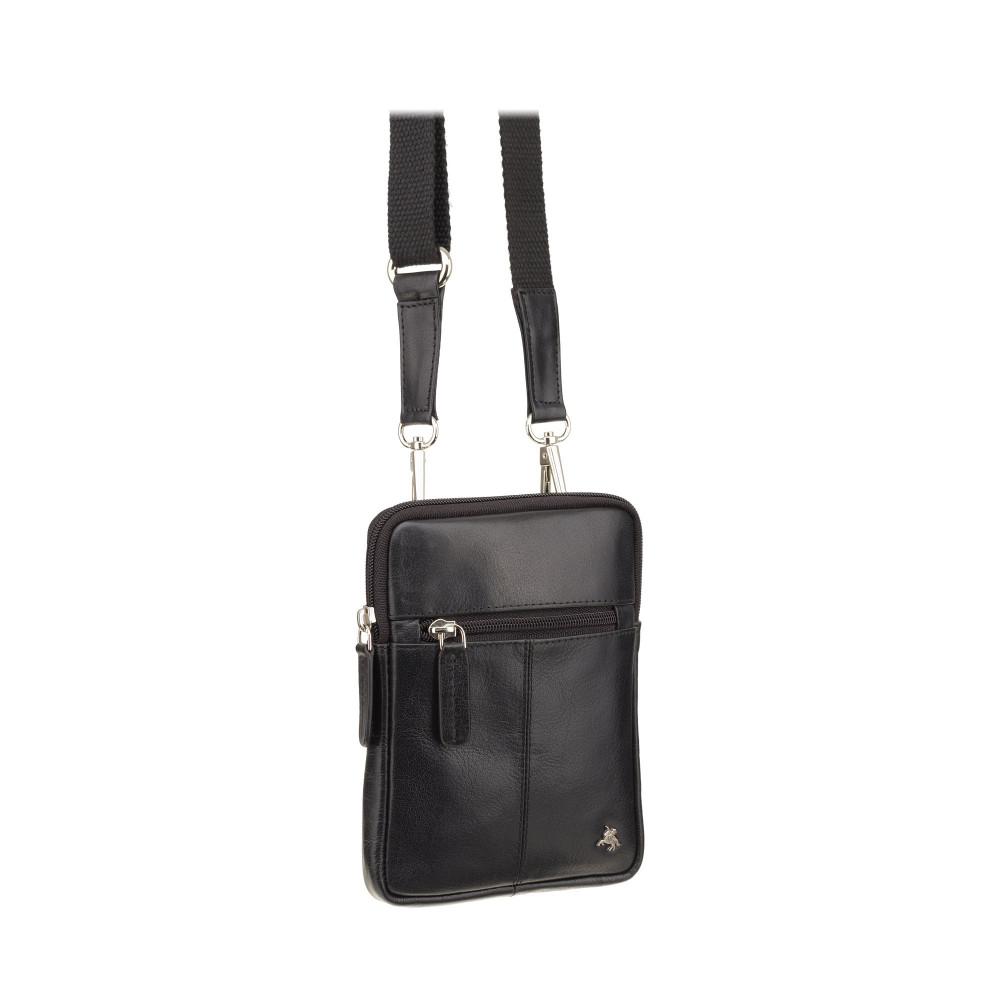 Кожаная маленькая сумка Visconti S10 Remi (Black)