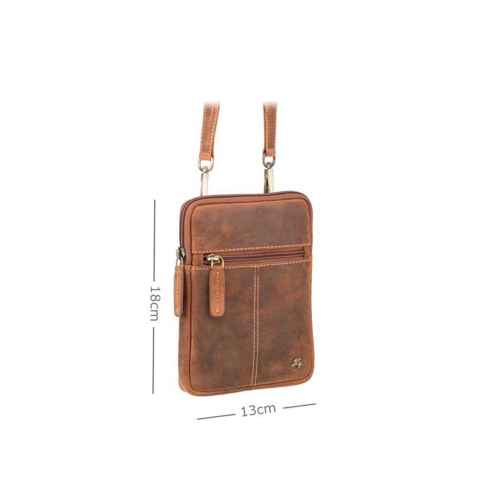 Кожаная маленькая сумка на плечо или пояс Visconti S10 Remi (Oil Tan)