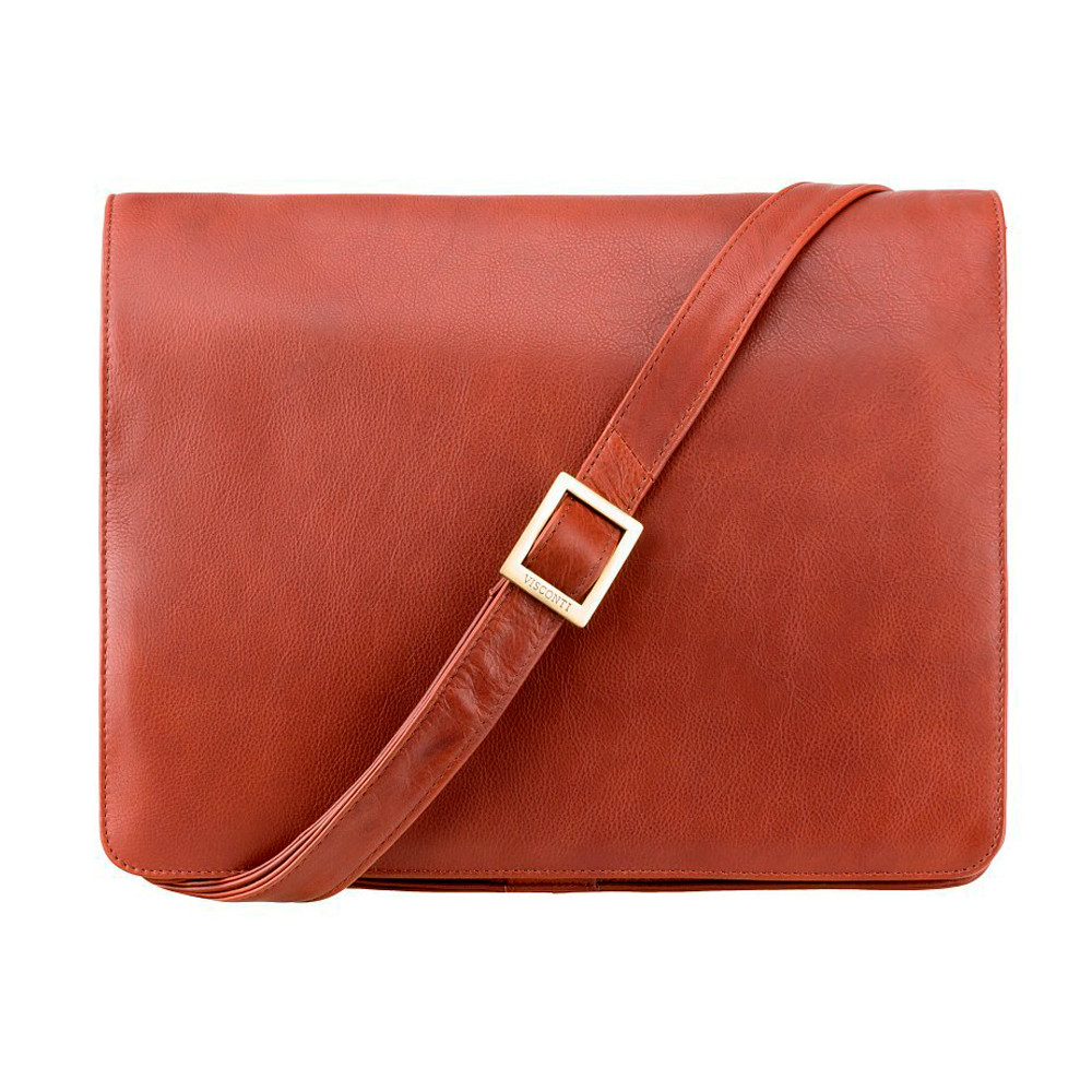 Мужская сумка-мессенджер Visconti 753 - Tess [L] (Brown)