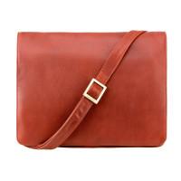 Мужская кожаная сумка-мессенджер Visconti 753 - Tess [L] (brown)