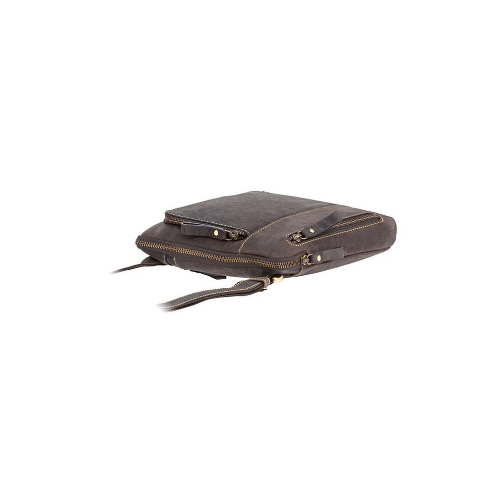 Мужская кожаная сумка Visconti 15056 [M] - Roy (oil brown)