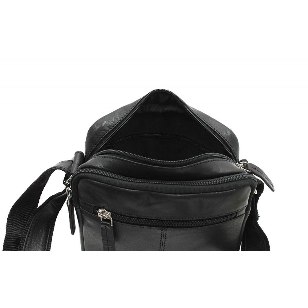 Мужская сумка через плечо Visconti S8  - (black)