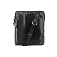 Мужская кожаная сумка Visconti ML-20 - Roy (black)