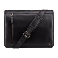 Кожаная сумка для ноутбука Visconti ML-23 - Carter (black)