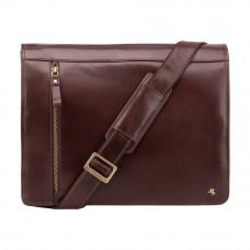 Кожаная сумка-мессенджер Visconti ML23 Carter (Brown)