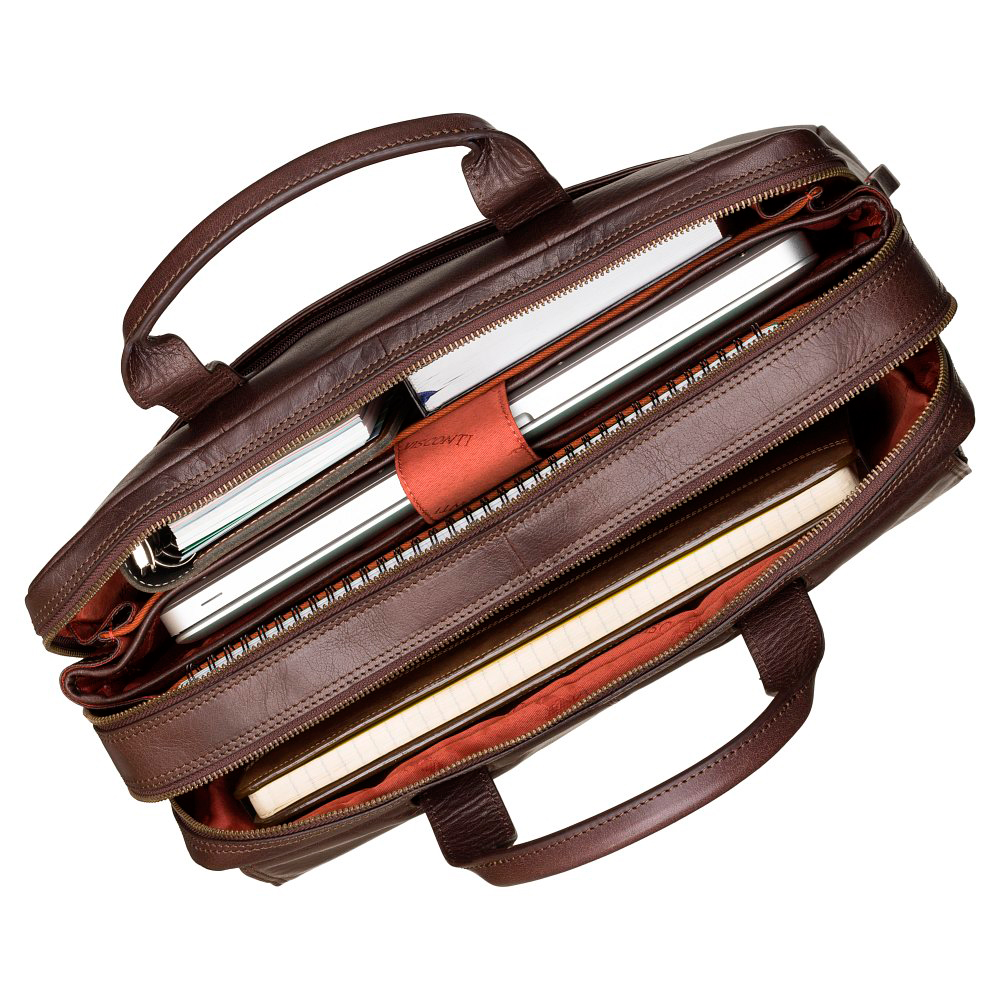 """Кожаная сумка для ноутбука 15"""" Visconti ML24 Anderson (Brown)"""