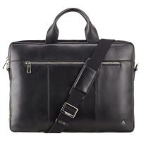 Мужская кожаная сумка Visconti ML-28 - Charles (black)