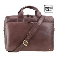 Мужская кожаная сумка Visconti ML-30 - Hugo (brown)