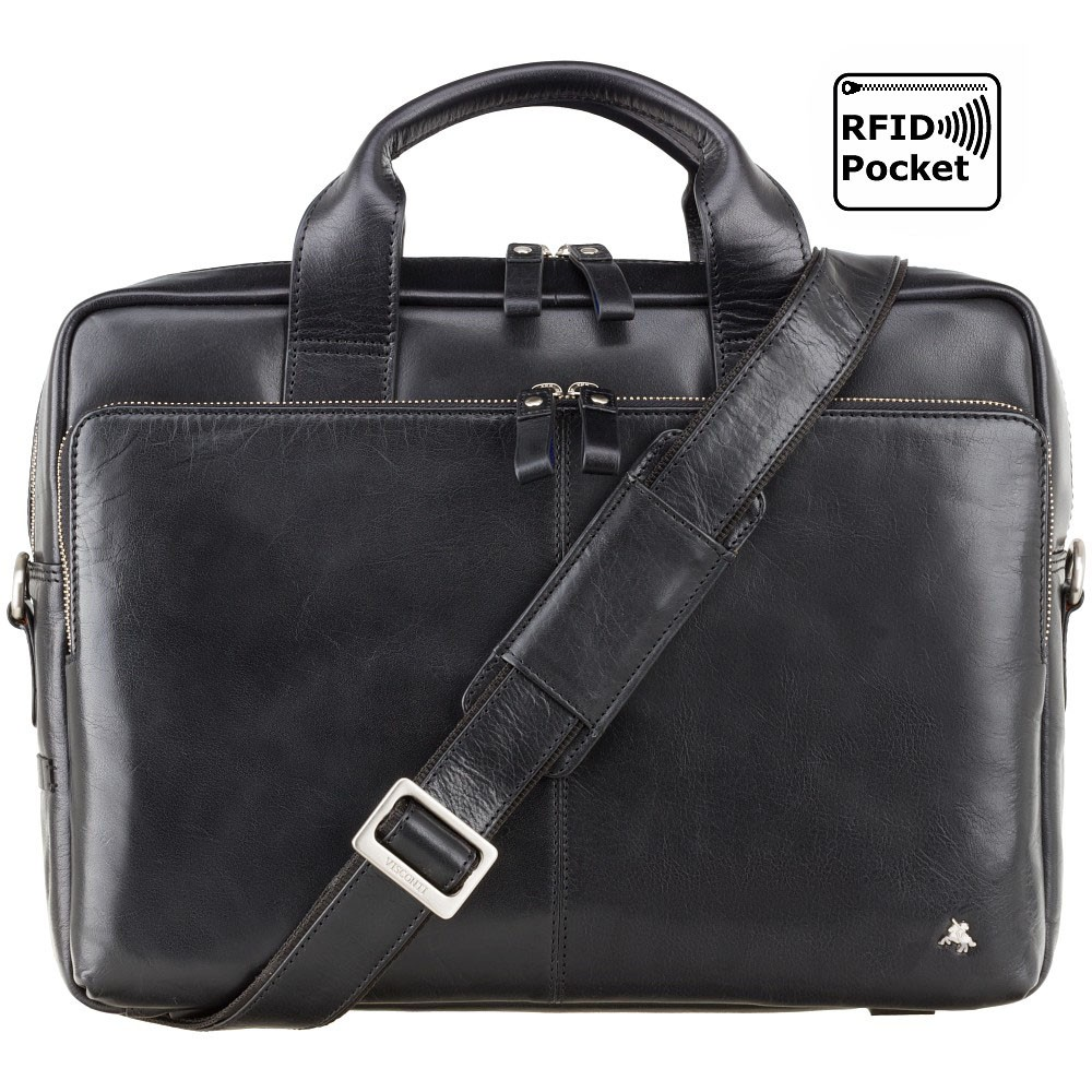 """Сумка для ноутбука 15"""" Visconti ML31 Hugo с защитой RFID (Black)"""