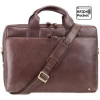 Мужская кожаная сумка Visconti ML-31 - Hugo (brown)