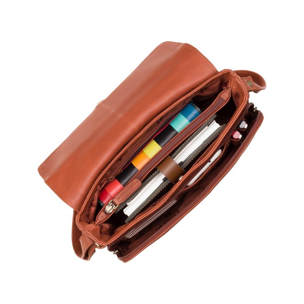 Женская кожаная сумка Visconti 3190 - Claudia (Brown)