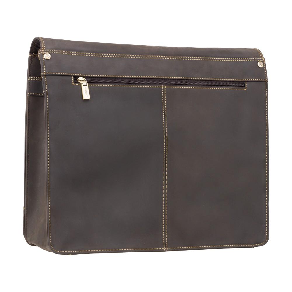 Мужская кожаная сумка-мессенджер Visconti 16054XL - Harvard (oil brown)