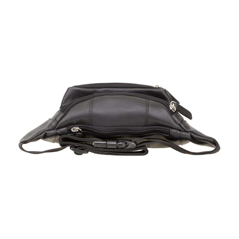Мужская кожаная сумка на пояс Visconti 720 (Black)