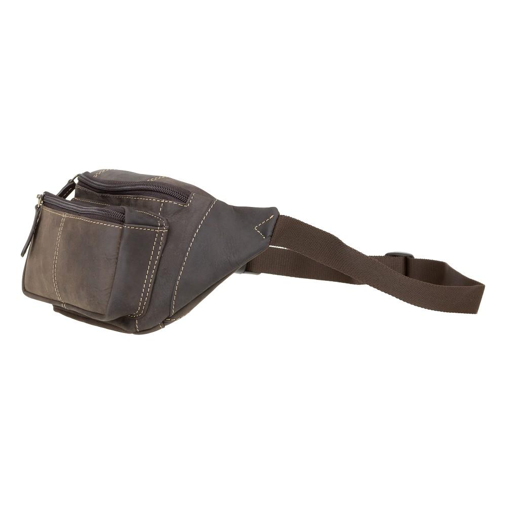 Мужская сумка на пояс Visconti 720 - (Oil Brown)