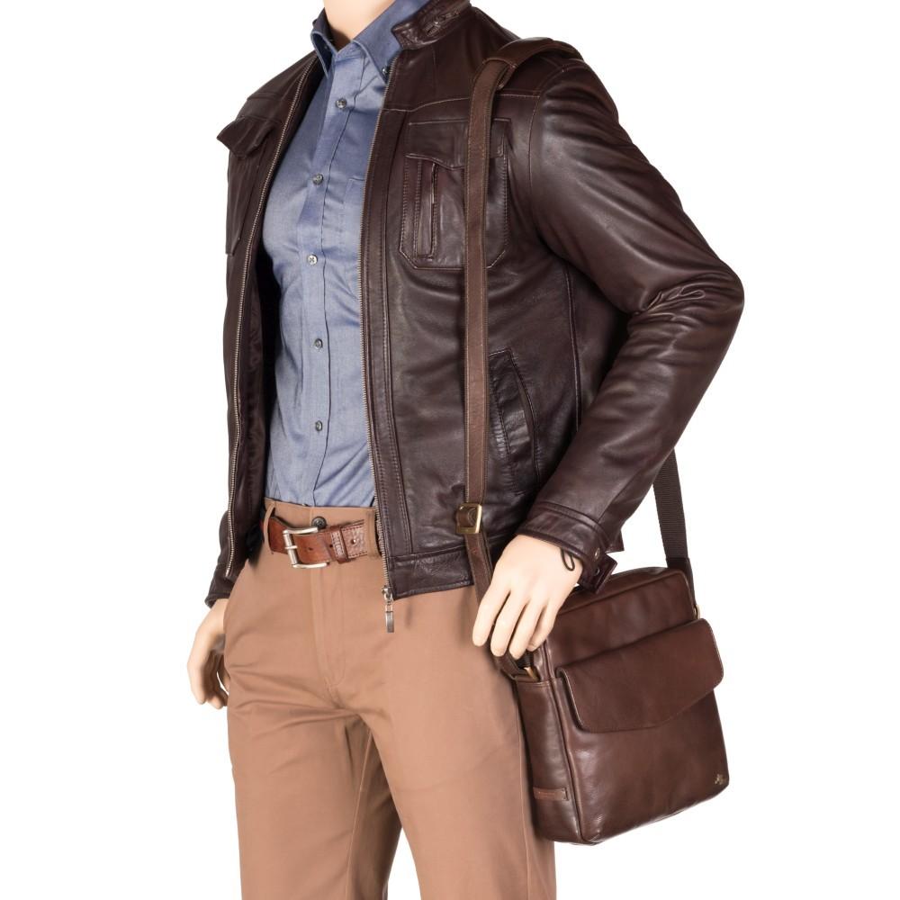 Мужская сумка на плечо Visconti ML36 - Vesper A5 (Brown)