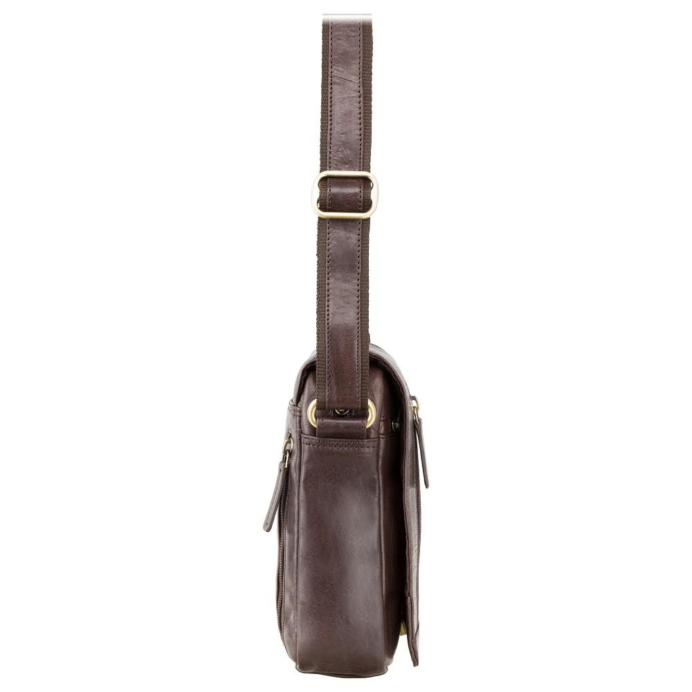 Мужская сумка через плечо Visconti S7 - (Brown)