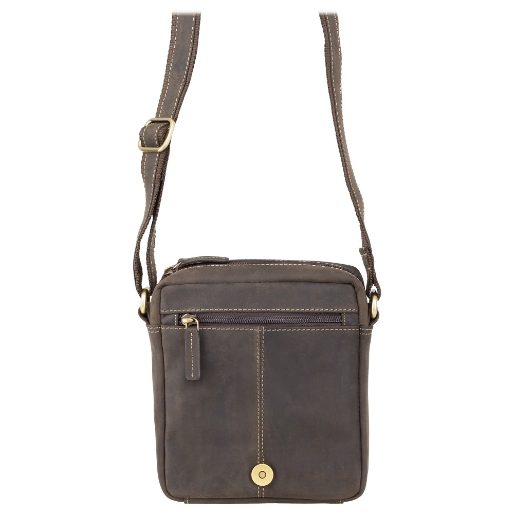 Мужская сумка через плечо Visconti S7 - (Oil Brown)