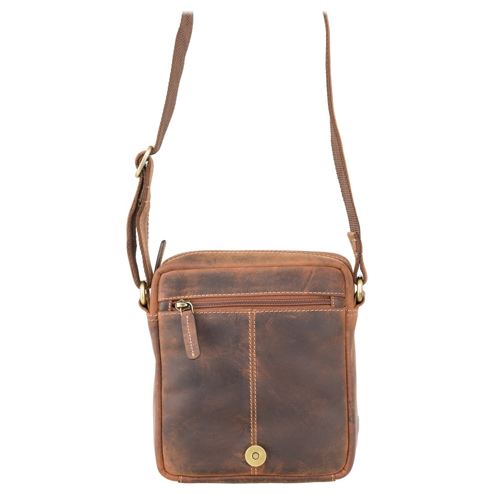 Мужская сумка через плечо Visconti S7 - (Oil Tan)