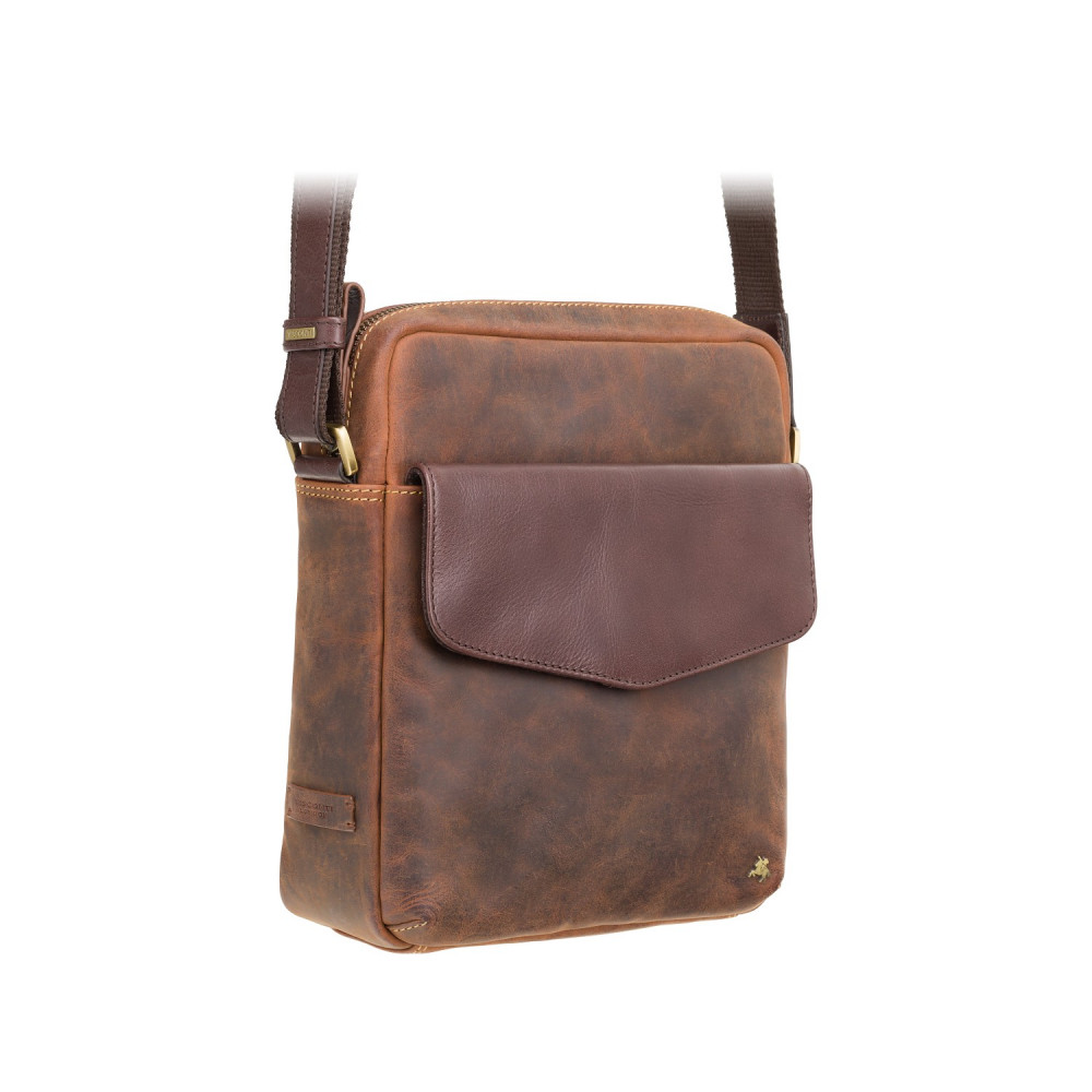 Мужская сумка на плечо Visconti TC70 - Vesper A5 (Oil Tan)