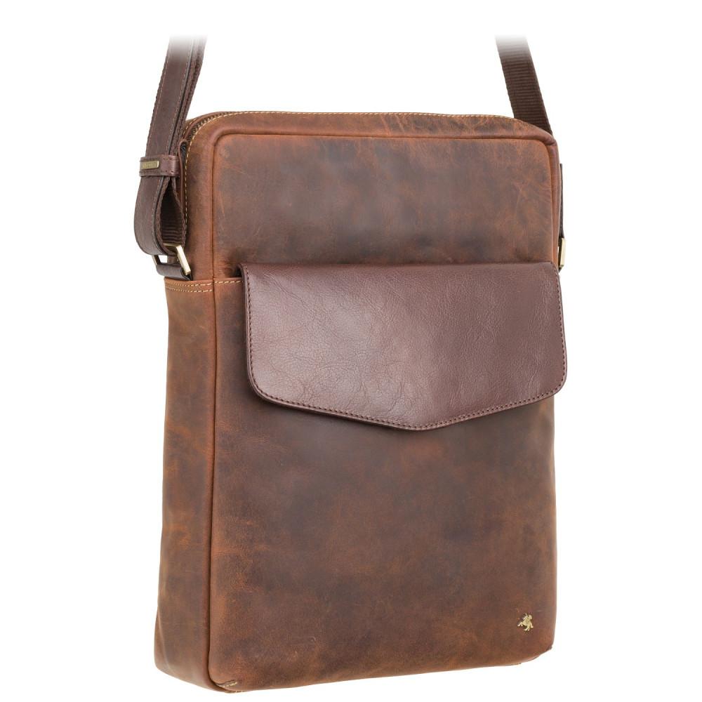 "Мужская сумка для ноутбука 13"" Visconti TC72 - Vesper (Havana Tan)"