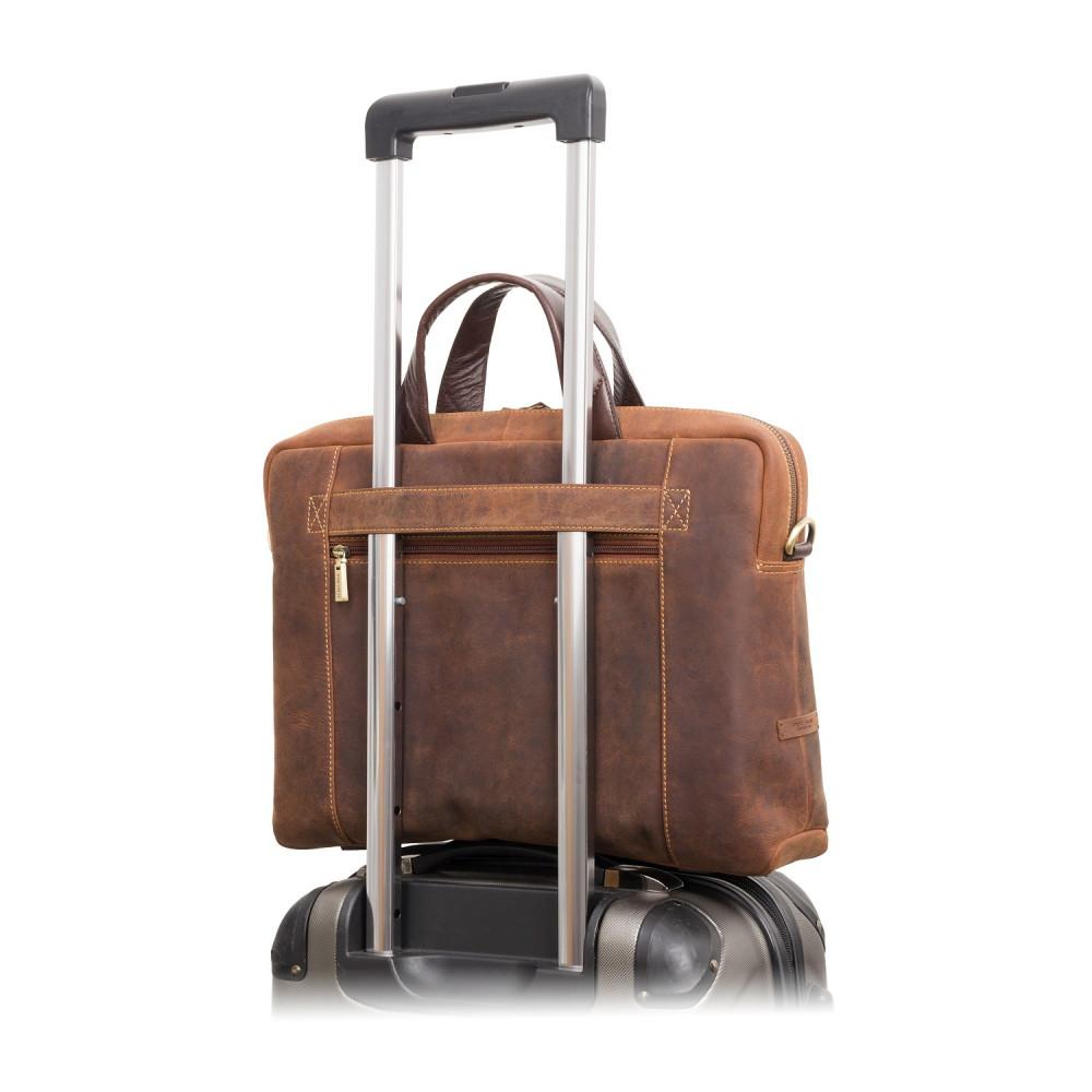 """Сумка для ноутбука 13"""" Visconti TC76 - Octo с защитой RFID (Havana Tan)"""