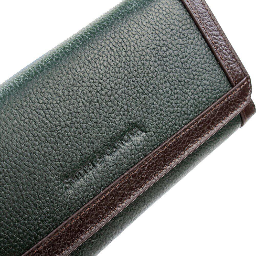 Женский кошелек Smith & Canova 26802 - Althorp (Green-Brown)