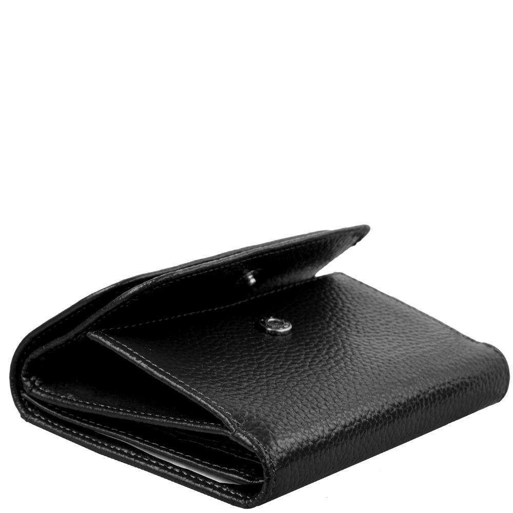 Женский кожаный кошелек Smith & Canova 28611 - Haxey (Black)