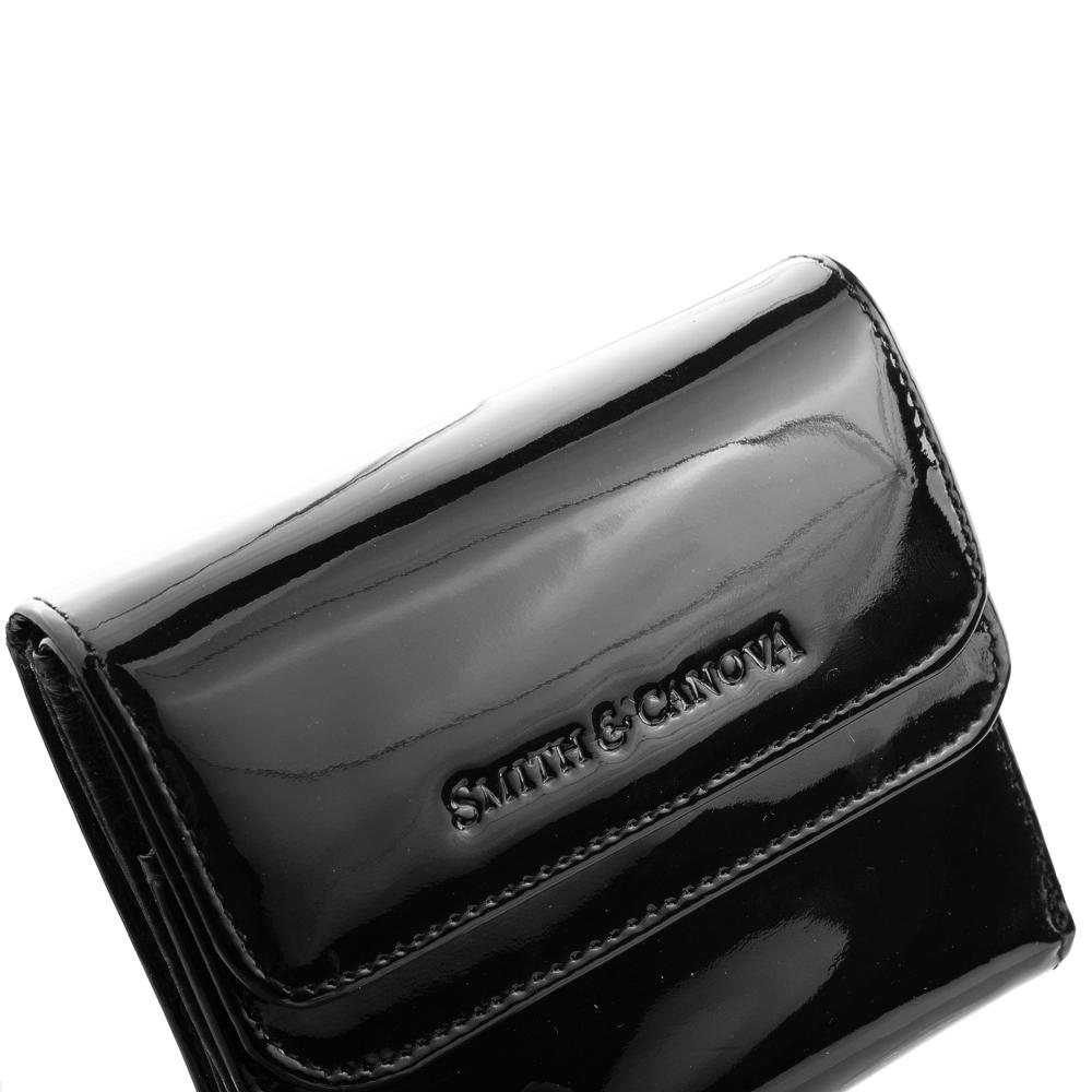 Женский кожаный кошелек Smith & Canova 28611 - Haxey (Black Patent)