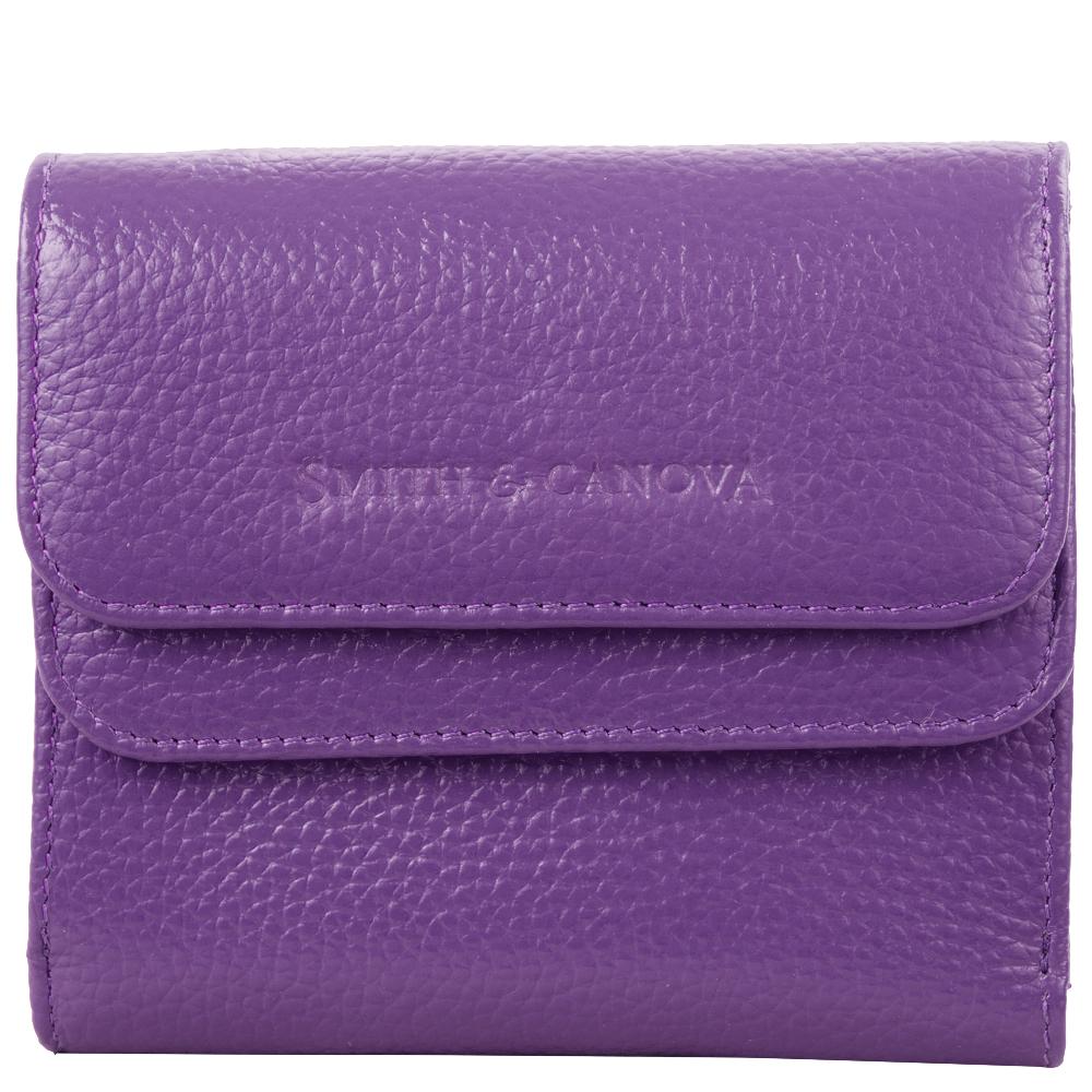 Женский кожаный кошелек Smith & Canova 28611 - Haxey (Purple)