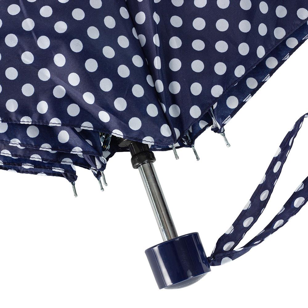 Женский механический зонт Incognito-4 L412 Navy Spot (Горошек)