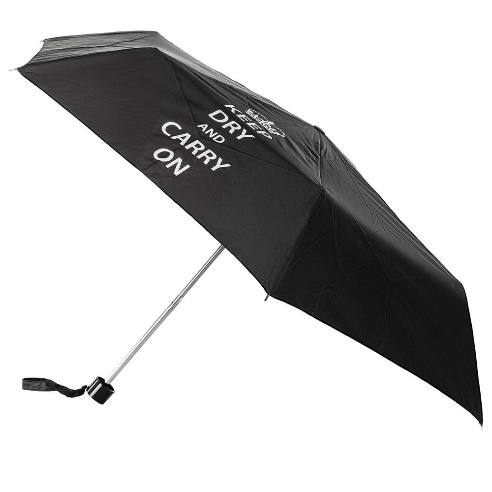 Женский механический зонт Incognito-4 L412 Keep Dry Black (Оставаться сухим)