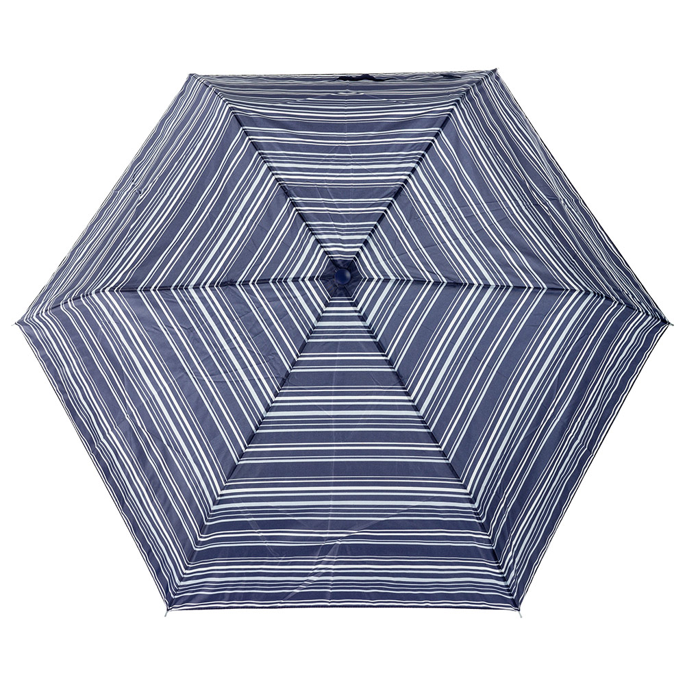 Женский механический зонт Incognito-4 L412 Navy Stripe (Синие полосы)