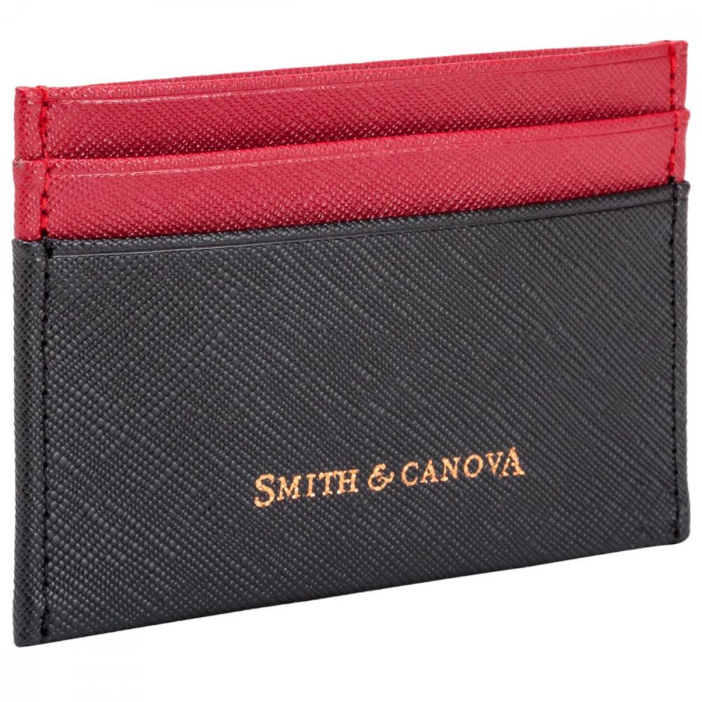 Картхолдер Smith & Canova 26827 - Devere (Black-Red)