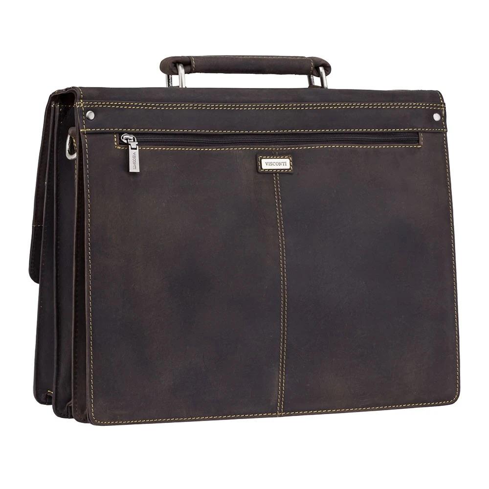 Мужской кожаный портфель Visconti 16055XL Hercules (Oil Brown)