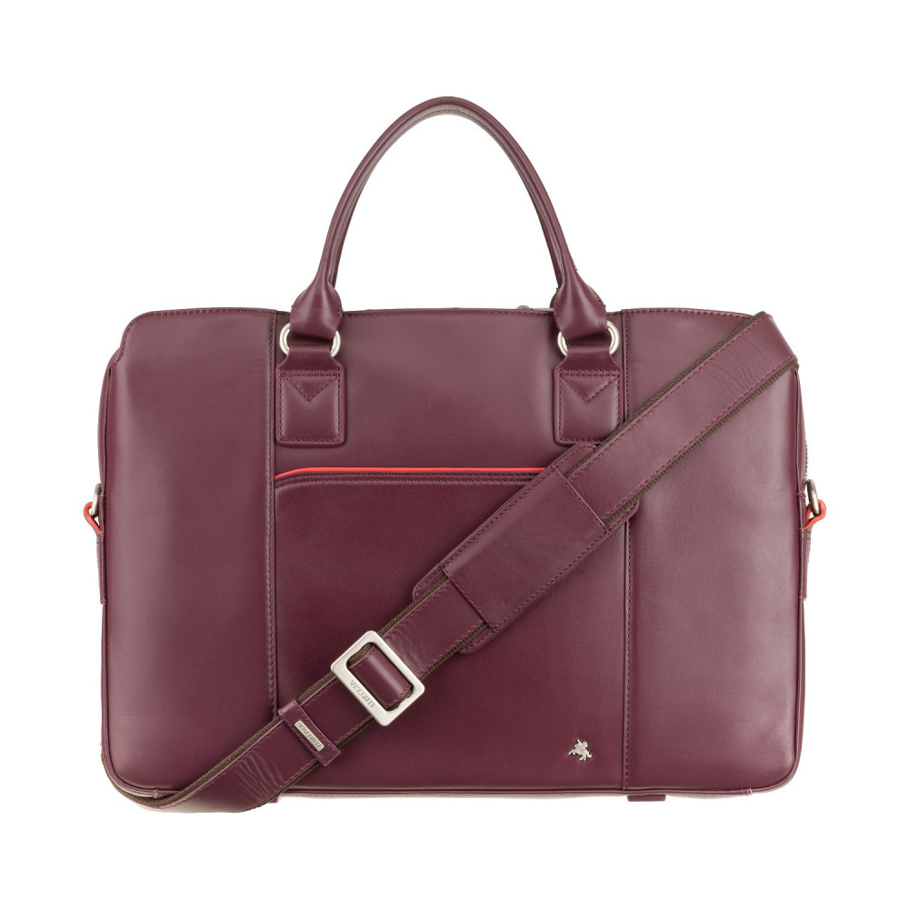 """Женская кожаная сумка для ноутбука 13"""" Visconti WB70 Harriet (Plum)"""