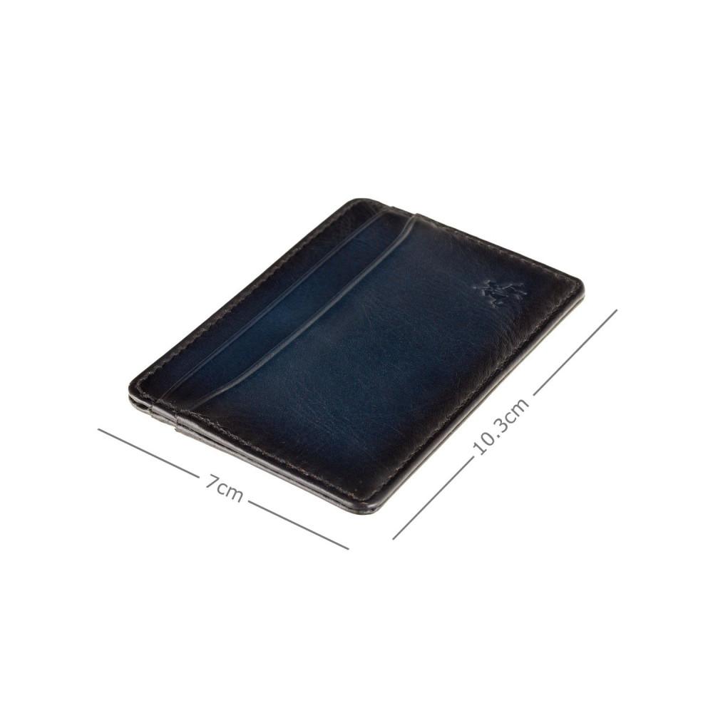 Кожаный картхолдер Visconti AT54 Evan (Burnish Blue)