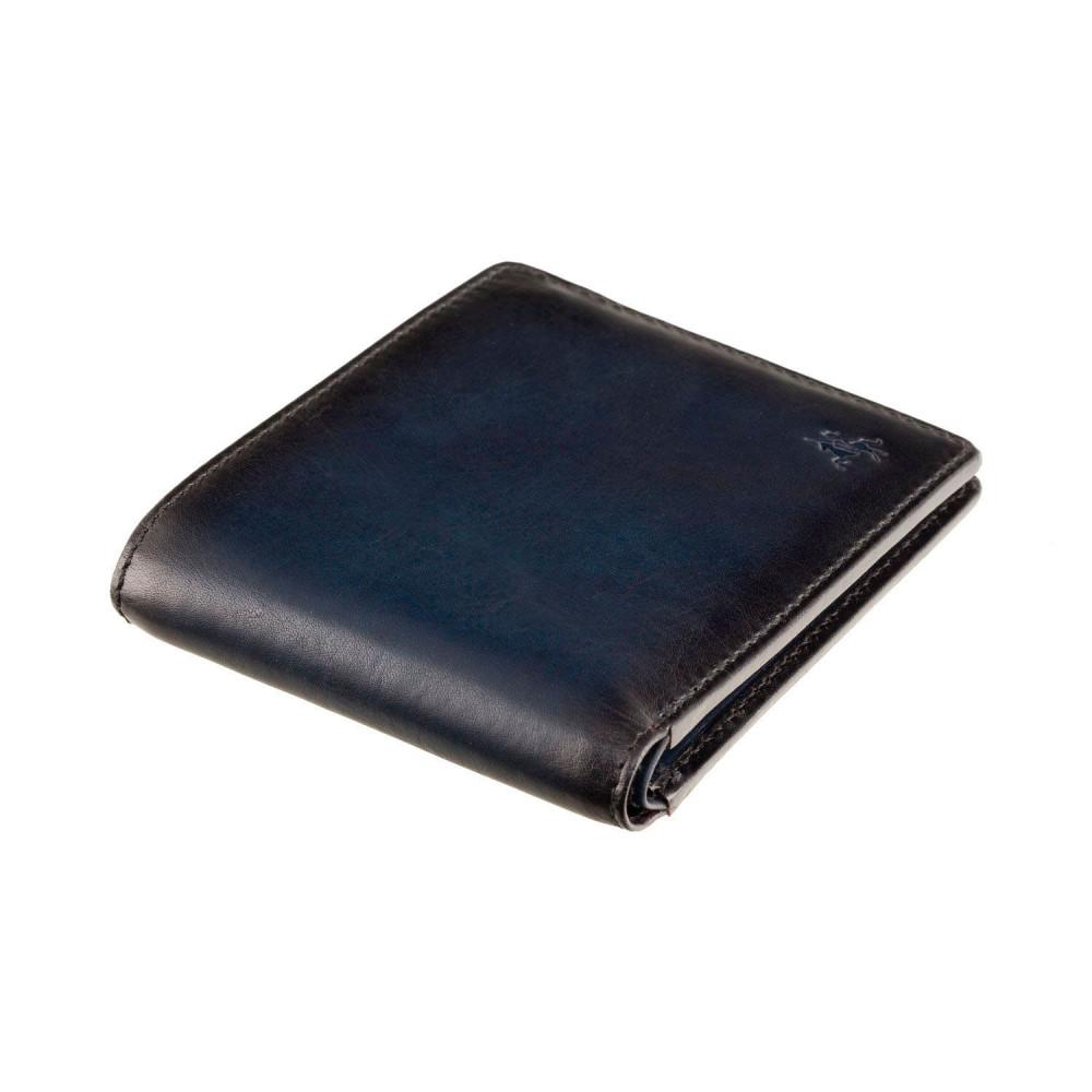 Мужской кожаный кошелек Visconti AT58 Milo c защитой RFID (Burnish Blue)