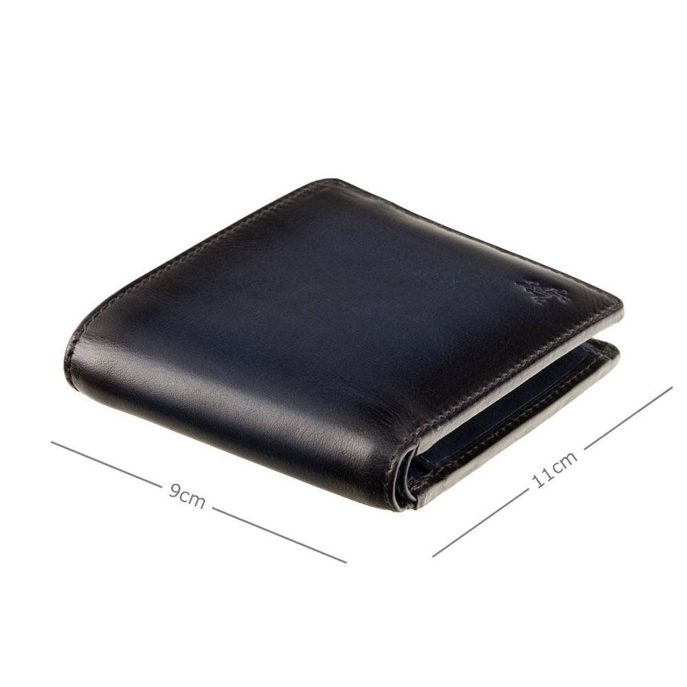 Мужской кожаный кошелек Visconti AT60 Tap-n-Go c RFID Arthur (Burnish Blue)
