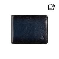 Мужской кошелек с монетницей Visconti AT63 Roland c RFID (Burnish Blue)