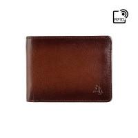 Мужской кошелек с монетницей Visconti AT63 Roland c RFID (Burnish Tan)